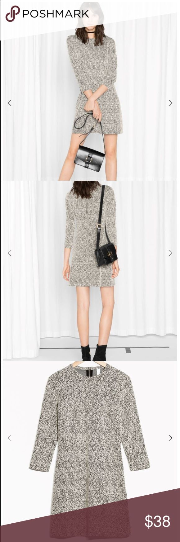 & other stories long sleeve mini dress & other stories black and white mini dress. Worn once. Very flattering. & other stories is a more curated H & M. The dress is a size 6 but I usually were a 2 or 4. The dress has some stretch to it. & other stories Dresses Long Sleeve