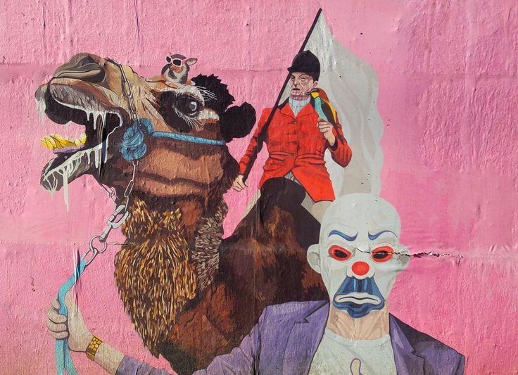happycurio clown de rauky street art galerie lyon
