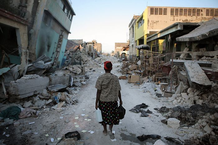 Haiti earthquake disaster  This shows that not everything in life can be controled