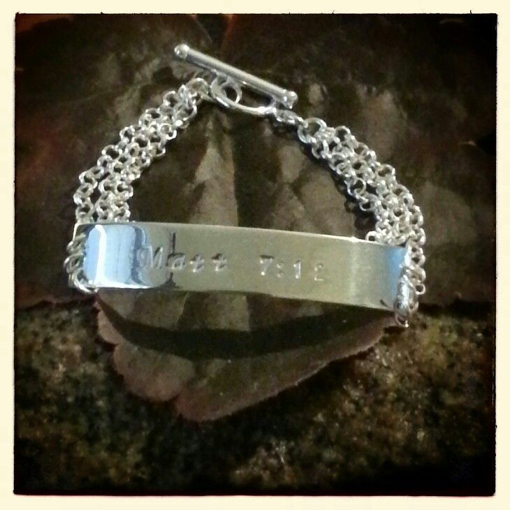 Sterling silver bracelet -Treat people the same way you want them to treat you.