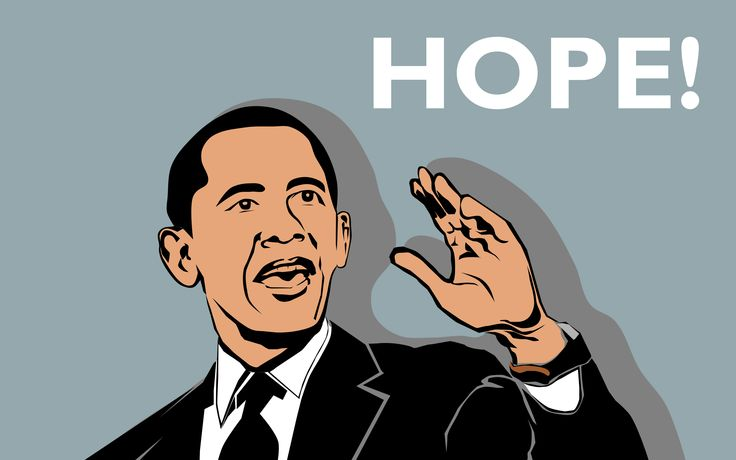 A photo of Mr.Obama. Traced manually using Inkscape.  #Obama #hope