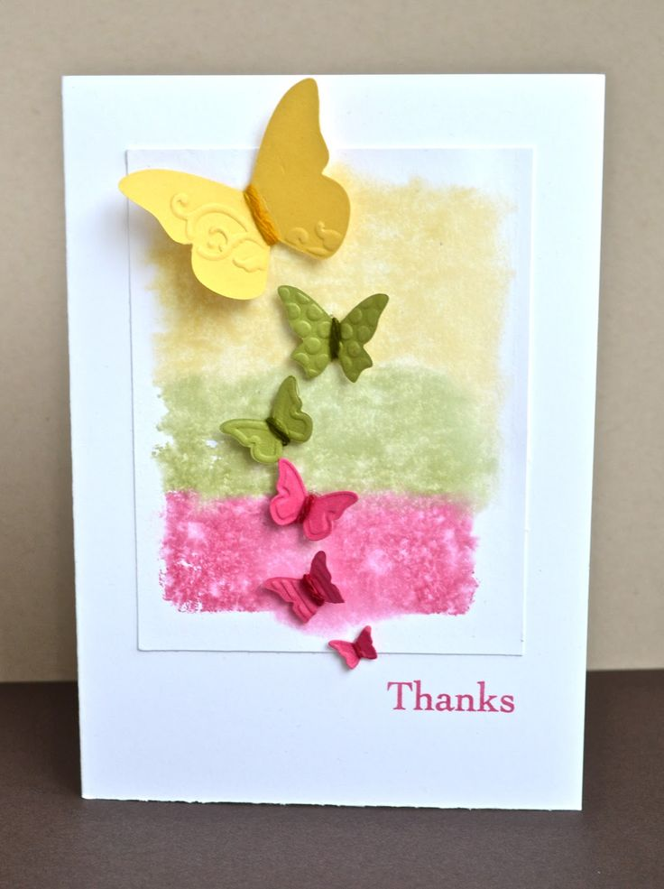 Stampin' Up ideas and supplies from Vicky at Crafting Clare's Paper Moments: Butterflies on inky strips