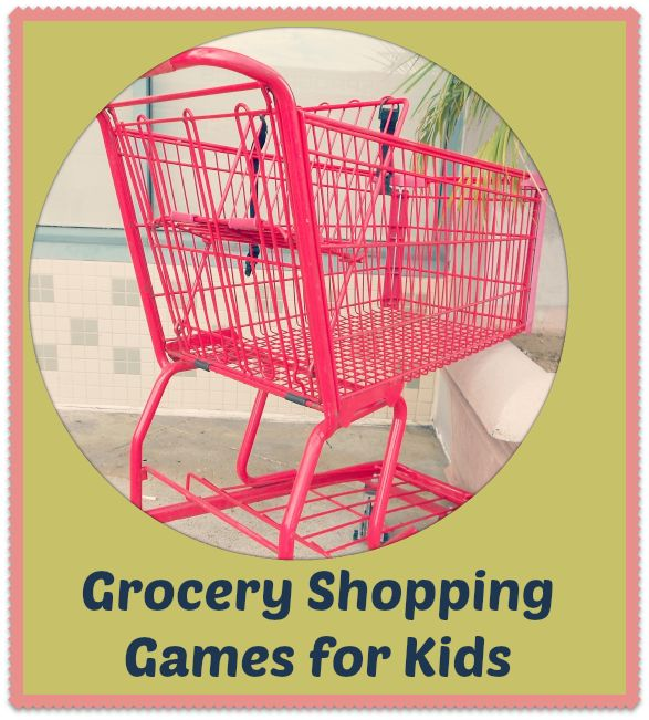 Shopping games for kids can include something as simple as math. With my toddler and preschooler, we practice our counting.