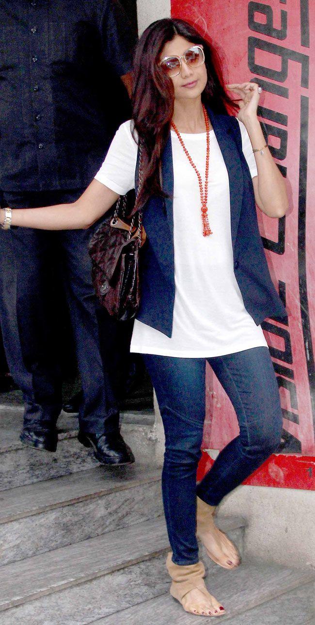 Shilpa Shetty snapped at a multiplex.
