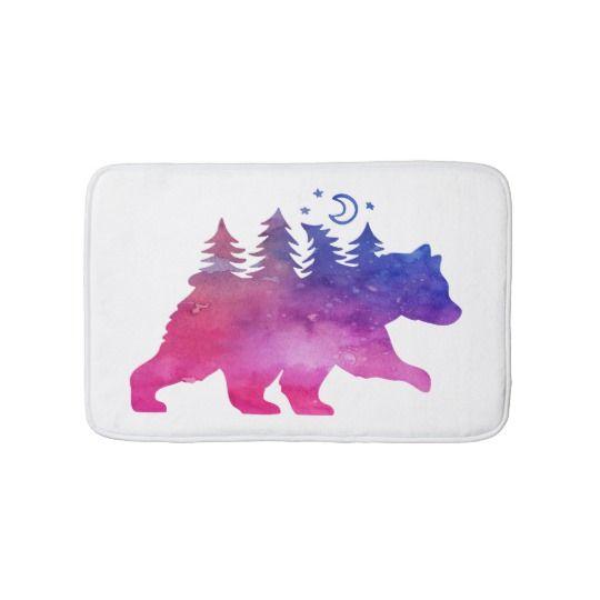 #watercolor #gifts #bear #nature #rustic #bath #bathroomideas #bathroomdesign