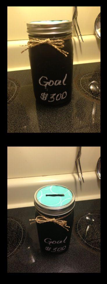 Mason Jar Piggy Bank! :)