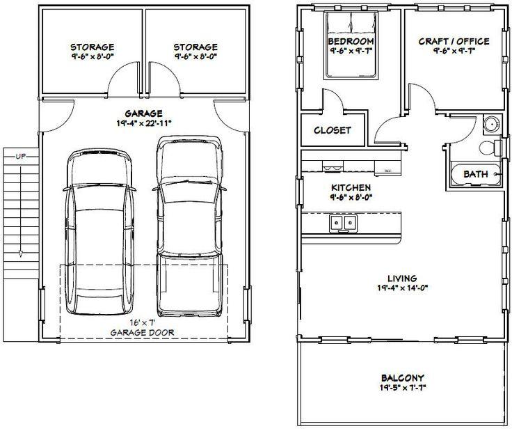 Best 25 garage plans ideas on pinterest detached garage for 2 car deep garage
