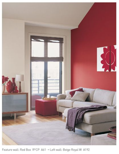 Red feature wall