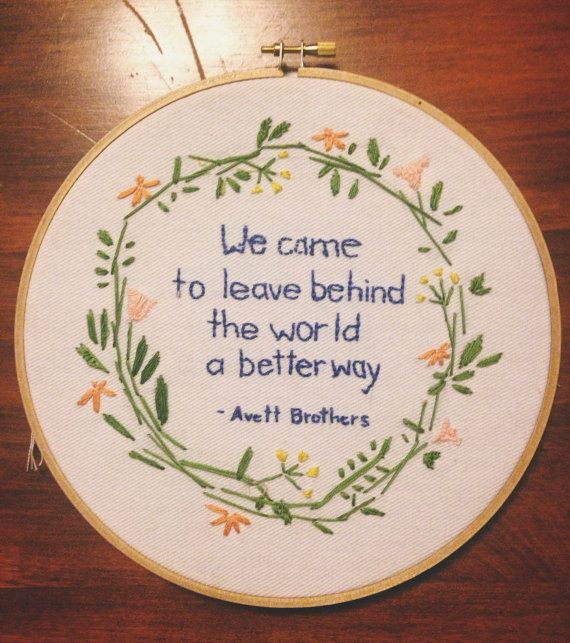 Avett Brothers Embroidery by HappyHandmadeLife on Etsy