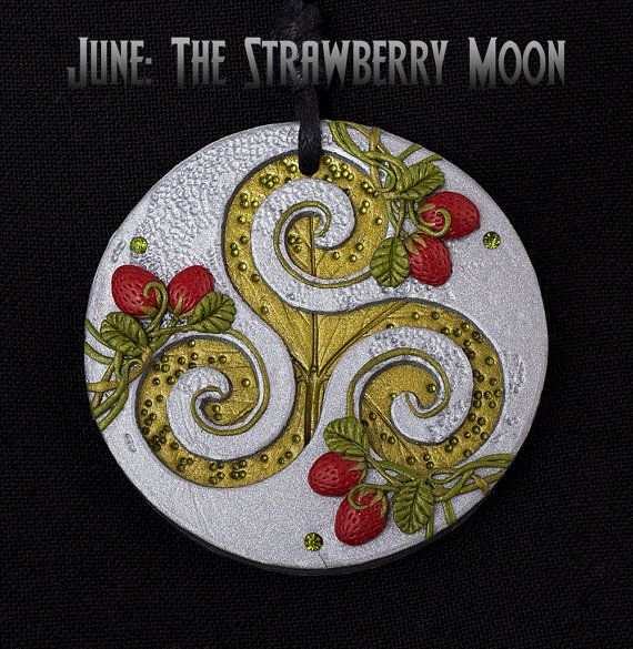 The Strawberry Moon  June  The Full Moon Triskelion by Tishaia, €52.00