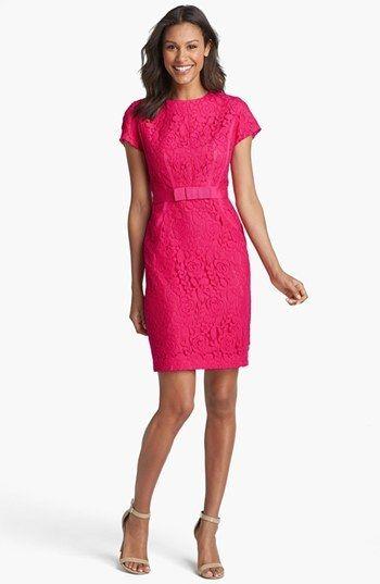Taylor Dresses Floral Lace Sheath Dress (Regular & Petite) on shopstyle.com #MichelleObama