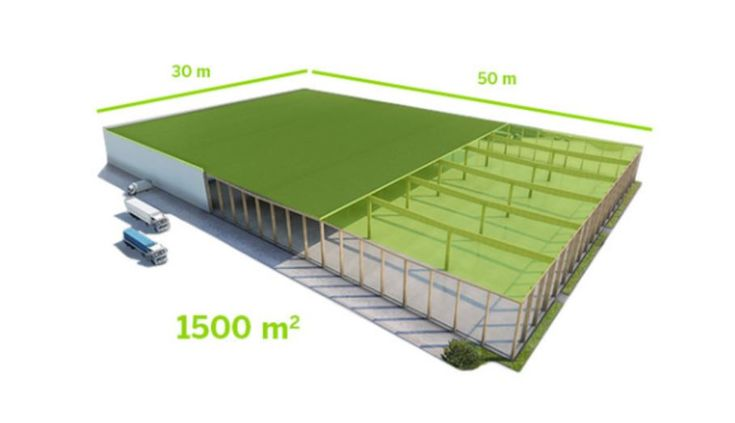 Utilizing prefabricated wood elements is a surprisingly fast option for on-site construction. For example, up to 1500 m2 of Kerto® LVL (Laminated Veneer Lumber) roof panels can be assembled within a single working day