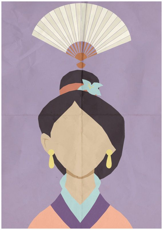 Mulan - Minimalist Retro Poster, Movie Poster, Art Print    Poster Size: 11.7 inches X 16.5 inches    Printed on high quality, A3 220gm Textured