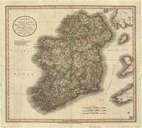 This is a really old and really cool historical map of Ireland from the year 1799 (told you it was really old!).