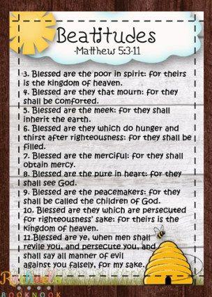 Primary 7 Lesson 10: The Sermon on the Mount, Beatitudes