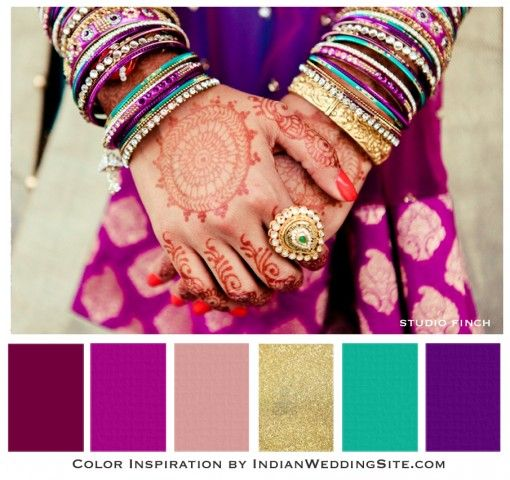 Purple, plum and gold – Indian Wedding Color Inspiration