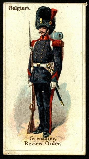 Cigarette Card - Belgian Grenadier 1894: Photos, Cigarette Tradecard, Cigarette Cards, Cig Cards, Cigarette Packs Cards