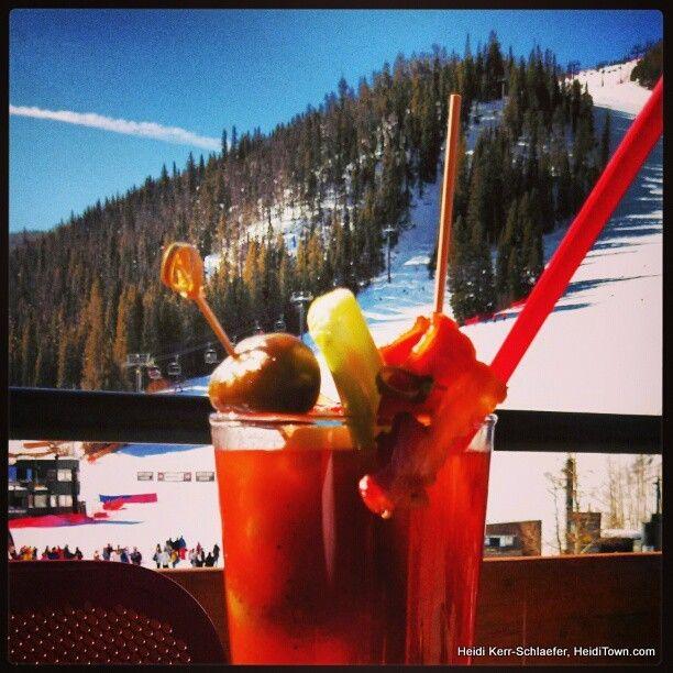 Bloody Mary w/ #bacon at the Derailer Bar at @WinterPark in @Winter Park, Colorado. #travel #VisitGrandCounty