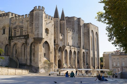 Emblème d'Avignon et remarquable représentation de l'architecture gothique du XIVe siècle, le Palais des Papes fut le siège de la chrétienté avec la venue des papes de 1309 à 1423. Après de nombreuses vagues de transformation, le monument est désormais classé au Patrimoine mondial de l'Unesco.
