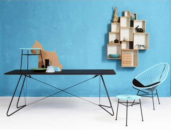Tempo Berlin | On A String - Table by OK Design, Acapulco Chair and Babushka Boxes