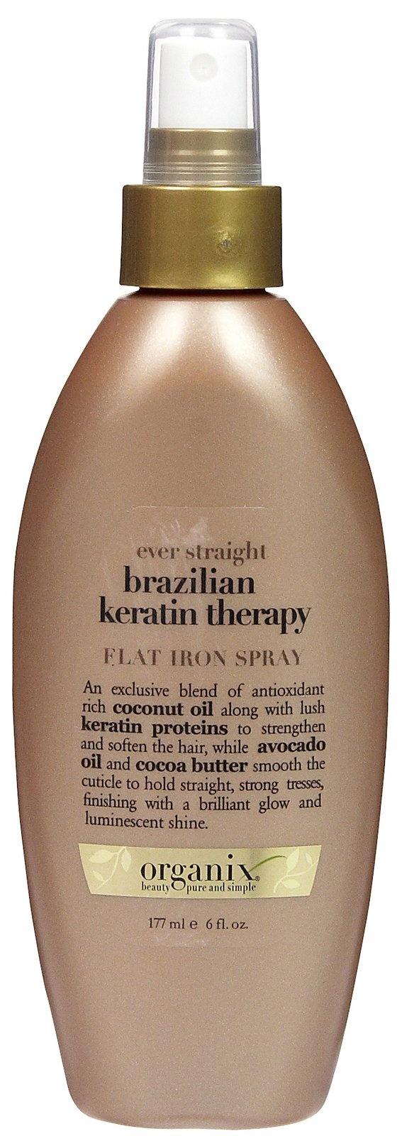 Organix Brazilian Keratin Therapy Ever Straight Flat Iron Spray - love it!