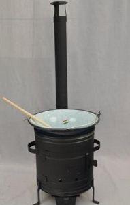 Goulash kookkachel 10 liter met ketel zwart 31cm