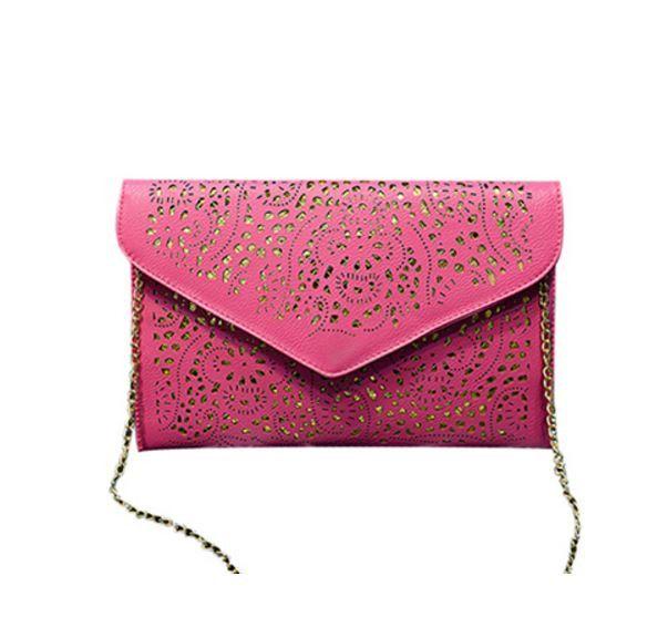 Luxusní koženkové psaníčko s řetízkem – kabelka s dirkovaným vzorem – růžová – SLEVA 60 % + POŠTOVNÉ ZDARMA Na tento produkt se vztahuje nejen zajímavá sleva, ale také poštovné zdarma! Využij této výhodné nabídky …