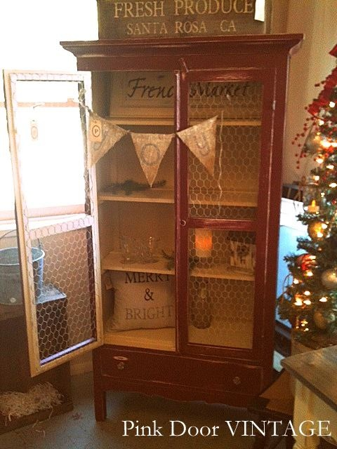 Pantry/cabinet with chicken wire