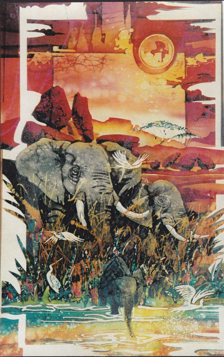 "Peter Goldphin,  Batik Fine Art,    ""Matriarch"" 1996 by Goldphin Creations"