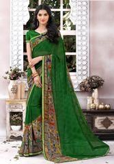Green Color Georgette Designer Party Wear Sarees : Shabri Collection YF-64005