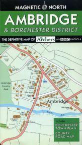 Fictional Map of Ambridge & Borchester District - The Archers BBC Radio 4