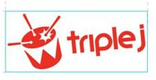 triple j Sticker - 10x4. triple j White Vinyl Sticker using 100 gsm stock. 10cm x 4cm $1.99
