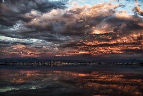 tramonto su Molentargius © Cristiana Verazza