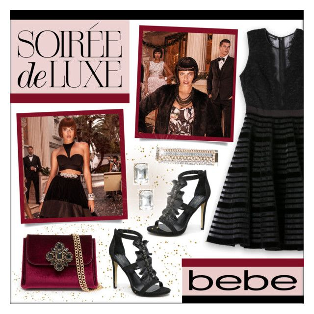 """""""Soiree de Luxe with bebe Holiday - Contest Entry"""" by lgb321 ❤ liked on Polyvore featuring Bebe"""
