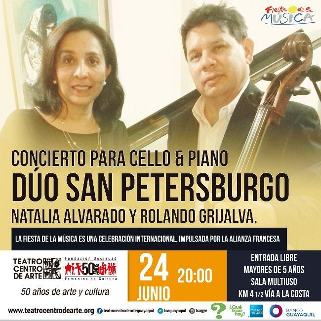 Concierto para Cello & Piano por Dúo San Petersburgo 24 Junio