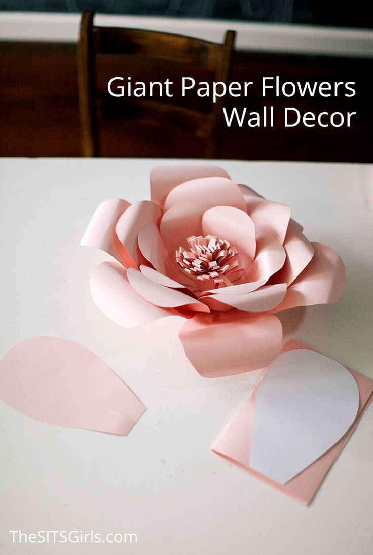 Best 25 flower wall decor ideas on pinterest diy wall flowers perfect for bringing spring inside any time of the year giant paper flowers wall decor amipublicfo Image collections