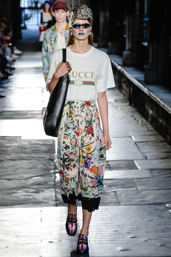 Turban + t-shirt. Gucci ss17