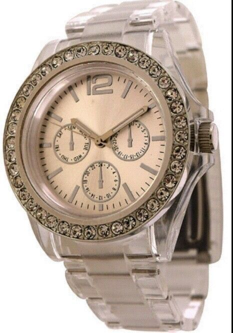 Ladies Fossil Crystal Accent 52706930 Wrist Watch for Women #Fossil