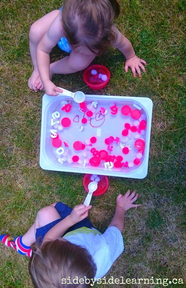 Canada Sensory Bin with Kids