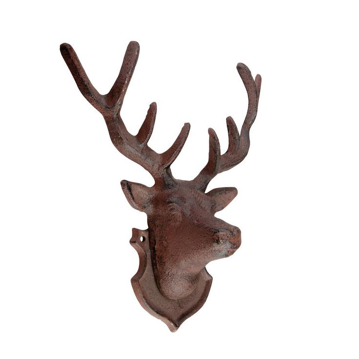 Decorative Cast Iron Stag Deer Wall Sculpture $30