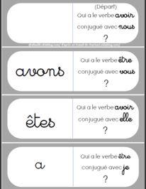 des jeux en conjugaison Voici un jeu de dominos sur le présent des verbes être et avoir