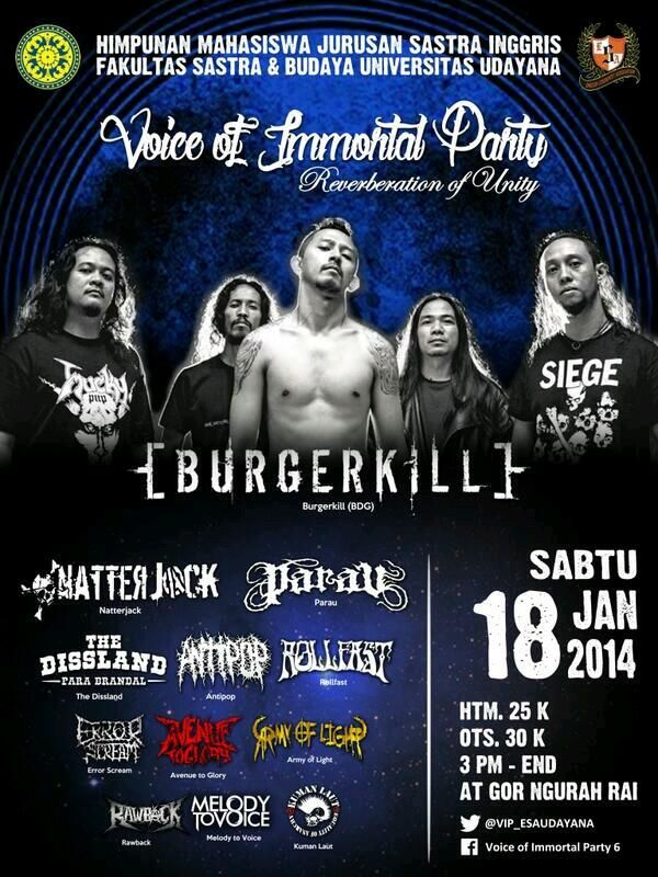 LIVE MUSIC VOICE OF IMMORTAL PARTY UNIV. UDAYANA BALI