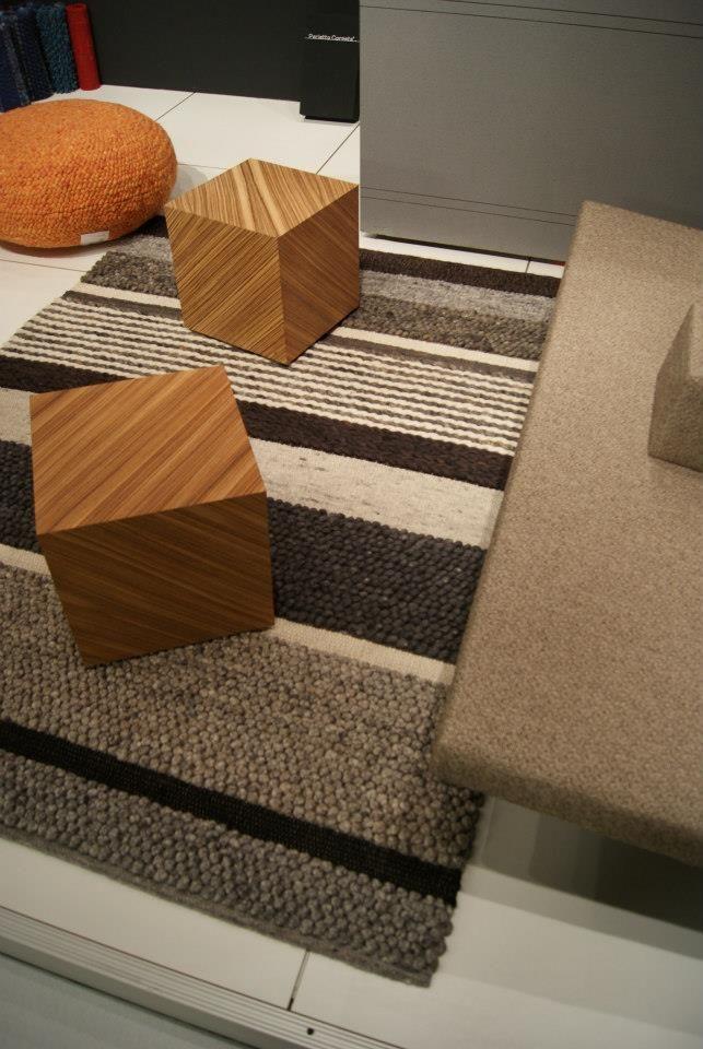 Structures Mix 101-2 op Interieur 2012 in Kortrijk. #wol #wool #vloerkleed #carpet #rug