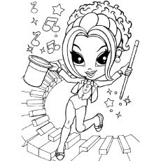 rockstar girl coloring pages - photo#20