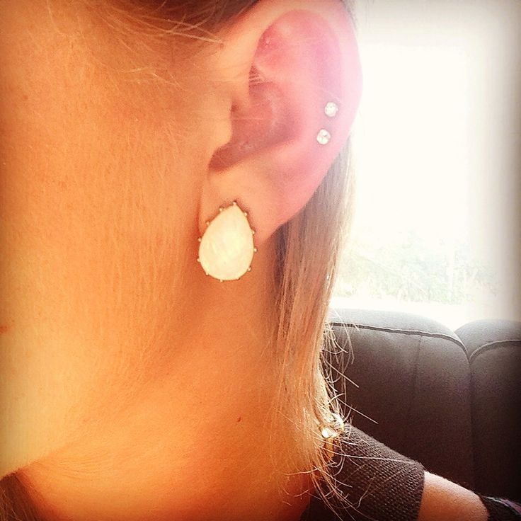 In love with my new piercing: Double middle cartilage. ☺️️