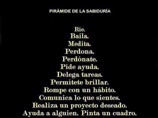 LA PIRÁMIDE DE LA SABIDURÍA