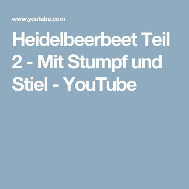 Fancy Heidelbeerbeet Teil Mit Stumpf und Stiel YouTube