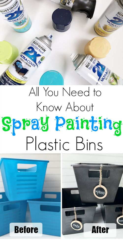 Awesome tips for spray painting plastic so the paint doesn't chip!