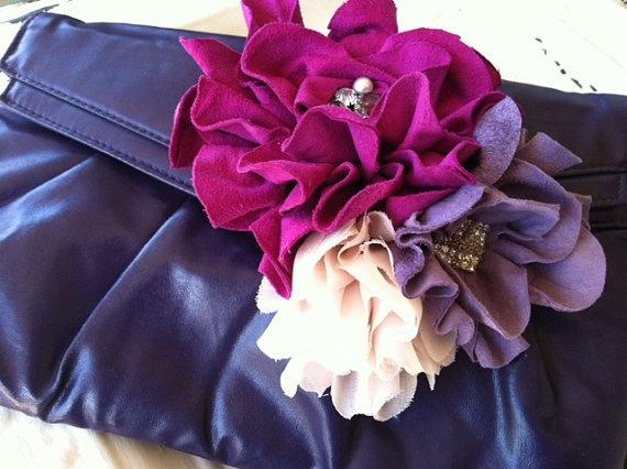 Dark Fuschia and lilac fascinator