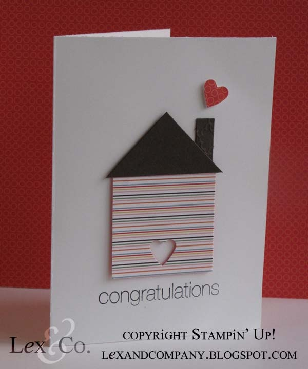 Congrats New Home By Stampin Up Demo Jana Burke At Lexandcompany